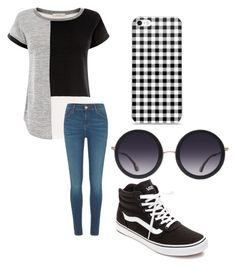 """Shades"" by fangirlmendes on Polyvore featuring River Island, Alice + Olivia and Vans"