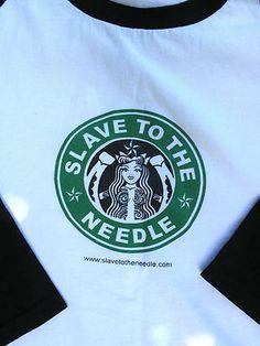 """Slave To The Needle"" Starbucks parody   Seattle tattoo shop"