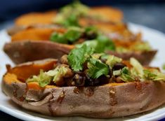 Three Bean Sweet Potatoes and Brussels Sprouts Whole Food Recipes, Vegan Recipes, Mexican Seasoning, Three Beans, Vegan Kitchen, Recipe For 4, Plant Based Recipes, Main Meals, The Fresh