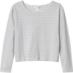 Monki Nese top (21 CAD) ❤ liked on Polyvore featuring tops, sweaters, shirts, monki, sleek stripes, striped shirt, white striped shirt, breton top and breton striped top