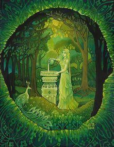 Mirror Gazing by Emily Balivet - Mythological Goddess Art