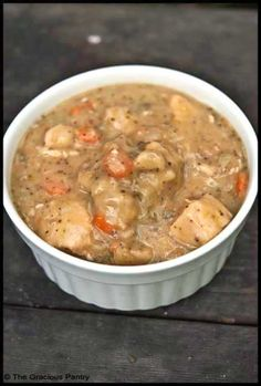 Healthy chicken & dumplings - skinny crock pot