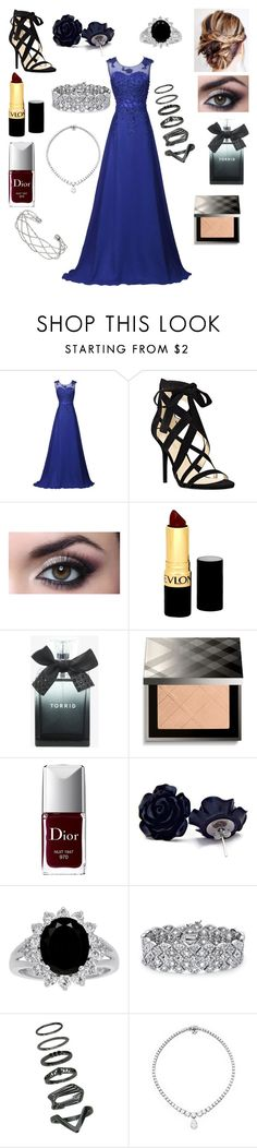 """Untitled #354"" by floridaflower11 ❤ liked on Polyvore featuring Nine West, Revlon, Torrid, Burberry, Christian Dior, Palm Beach Jewelry and Wallis"