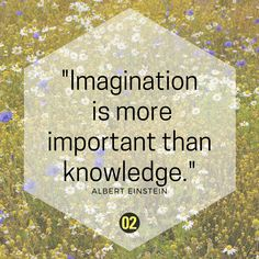 Albert Einstein with very true words: Imagination is definitely more important than knowledge. Also in science.