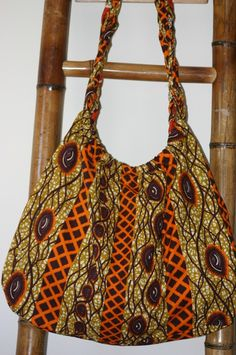 These eyes african print bag Relisted at new by tambocollection