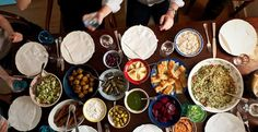 mediterranean food spread - Google Search