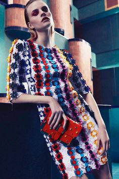 Gracing the pages of L'Officiel Middle East's June-July 2017 issue, Kristina Petrosiute poses in chic and colorful ensembles. Photographer Vladimir Marti captures the blonde beauty in floral prints and embellishments for the spread. Styled by Daniel Gonzalez Elizondo, Kristina poses in the designs of Dolce & Gabbana, Mary Katrantzou, Carven and more.