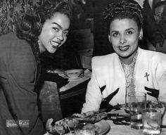 Lena Horne and Hazel Scott Lena Horne, Byron Long, Megan Jones, Dorothy Dandridge, Vintage Black Glamour, Diana Ross, Old Hollywood Glamour, African American History, Beautiful Actresses