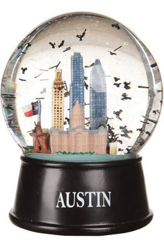 Austin Texas Flying Bats Snow Globe | University Co-op