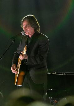 Singer Jackson Browne performs onstage at the 25th anniversary MusiCares 2015 Person Of The Year Gala honoring Bob Dylan at the Los Angeles Convention Center on February 6, 2015 in Los Angeles, California. The annual benefit raises critical funds for MusiCares' Emergency Financial Assistance and Addiction Recovery programs. - The 2015 MusiCares Person Of The Year Gala Honoring Bob Dylan - Show