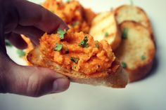 This Moroccan carrot bruschetta is a gorgeous finger food recipe perfect for entertaining.