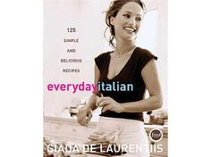 Everyday Italian by Giada De Laurentiis features over 125 simple and delicious recipes. It's available in the Food Network Store. #TeamGiada