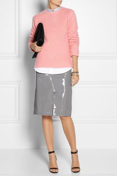 Grey patent leather skirt – Modern skirts blog for you