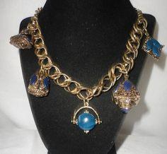 Vintage Brass Chian Bohemian Charm Necklace******. by RamsesTreasure on Etsy