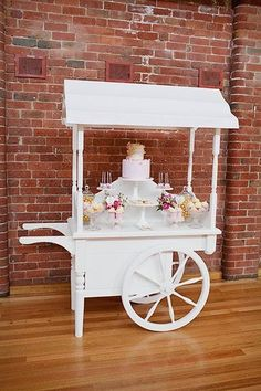 beautiful cart dessert table