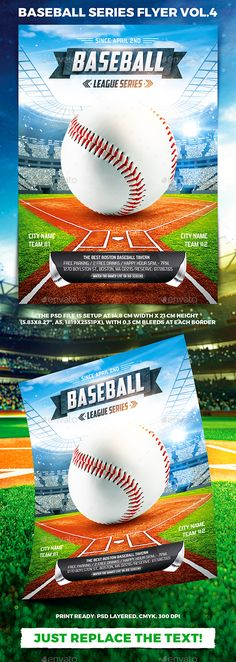 Baseball League Series Flyer vol.4