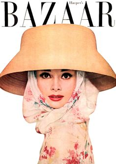 cMag658 - Harper´s Bazaar Magazine cover Audrey Hepburn by Richard Avedon / April 1956 v