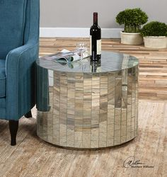Ceanna Round Mirrored Coffee Table (http://www.zinhome.com/