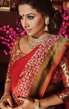 Vidya balan lehenga saree photoshoot for Hi Blitz magazine Indian Celebrities, Bollywood Celebrities, Bollywood Fashion, Bollywood Girls, Bollywood Style, Beautiful Celebrities, Red Saree, Lehenga Saree, Bridal Lehenga