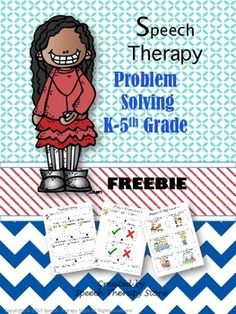 Speech Therapy Problem Solving Scenarios & Graphic Organizer. Free from TPT. Pinned by Pediatric Therapeutic Services, Inc. Check out our blog at pediatrictherapeuticservices.wordpress.com