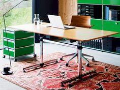 Wood veneer writing desk USM KITOS USM Kitos Collection by USM Modular Furniture