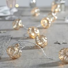 Lantern Bauble Fairy Lights from The White Company