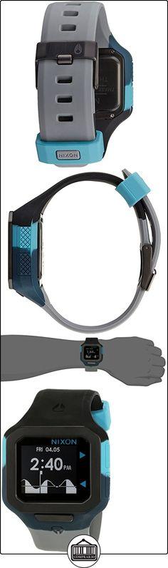 Nixon Supertide Black / Seafoam / Gray A3161942-00 - Reloj unisex, correa de silicona multicolor  ✿ Relojes para hombre - (Gama media/alta) ✿