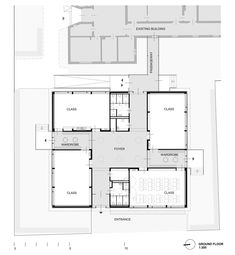Gallery of Elementary School Baslergasse / KIRSCH Architecture - 14 <br> Image 14 of 14 from gallery of Elementary School Baslergasse / KIRSCH Architecture. Education Architecture, School Architecture, Architecture Plan, Residential Architecture, School Floor Plan, School Plan, Abc School, School Classroom, Kindergarten Design
