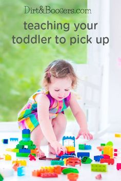 Teaching your toddler to help pick up her toys doesn't have to feel like a chore. These tips, tricks, and friendly reminders may make cleaning up feel more like play. This is a great way for your child to learn how to be responsible and helpful!