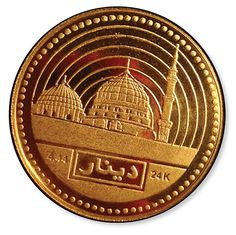 1 Dinar 4.44 gram (9999) or 1/7 trou ounce, Islamic Mint Nusantara, Indonesia. Open Mitsqal Exchange (OME)