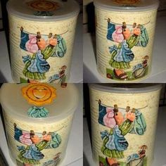 latas decoradas vintage - Pesquisa Google