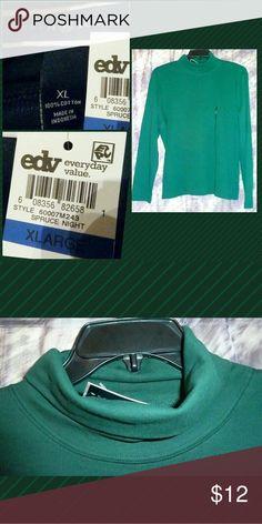 I just added this listing on Poshmark: Hunter Green Soft Knit Turtleneck Top Sz XL. #shopmycloset #poshmark #fashion #shopping #style #forsale #Karen Scott #Tops
