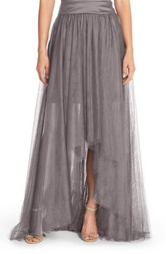 Monique Lhuillier Bridesmaids High/Low Tulle Overskirt Kathy: not necessarily this - but we could always do a skirt/shirt combo Purple Fashion, Spring Fashion, Monique Lhuillier Bridesmaids, Just In Case, Just For You, Clothes For Sale, Clothes For Women, Nordstrom, Tulle Dress