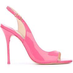 Sophia Webster 'Robyn' sandals ($240) ❤ liked on Polyvore featuring shoes, sandals, pink, sophia webster, sophia webster shoes, pink sandals and pink shoes