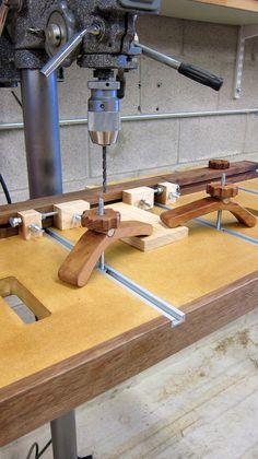 Drill Press Table w/Micro-Adjust stops. - by AdrianM @ LumberJocks.com ~ woodworking community
