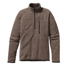 Patagonia Men's Better Sweater 1/4-Zip - A rugged, 1/4-zip fleece pullover that combines the aesthetic of wool with the easy care of polyester fleece.