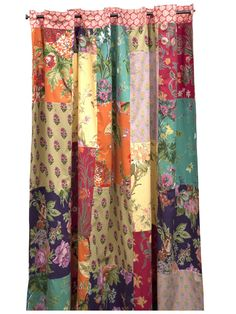 Shower Curtain - Plum Patchwork -