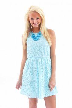 EVERLY:Embrace The Lace Dress-Mint
