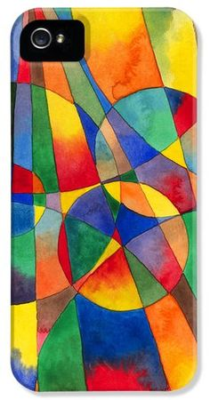 This work of abstract art is all shards, but of rainbow color. Imagine the shattering of a prism! From the original watercolor by Kristen N. Fox. It'll be hard to lose your phone with this many bright colors - LOL. http://kristen-fox.artistwebsites.com/featured/color-shards-watercolor-kristen-fox.html