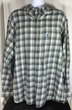 Columbia Shirt Mens Long Sleeve Button Down Flannel XXL 2XL Plaid ...
