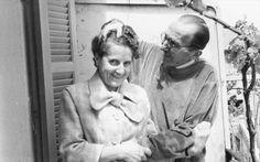 Ν.Καζαντζάκης με την Ελένη του,1957