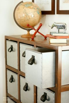 diy industrial storage unit- This is kinda cool