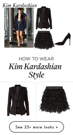 """""""Kim Kardashian style"""" by elisa-itgirl on Polyvore featuring Alexandre Vauthier, Alice + Olivia and Gianvito Rossi"""