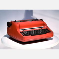 Tomato Red IBM Selectric -- would you like the Courier ball or the Pica ball?