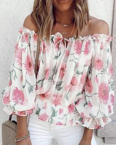 Floral Blouse, Sheer Blouse, Floral Tops, Floral Prints, Chic Type, Maxi Dress With Slit, Bodycon Dress, Dress Up, Smocks