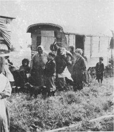 Vienna-Simmering, Austria, deportation of Gypsies.