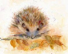 EGEL, Wildlife kunst, Giclee aquarel Art Print. Archivering kwaliteit inkten, 2 maten