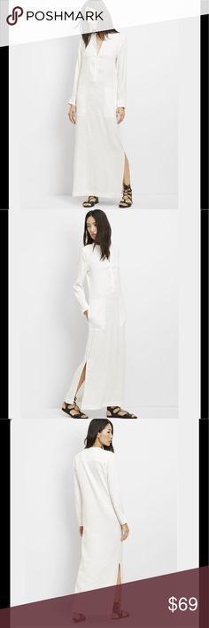 Vince white linen maxi dress....price firm Vince brand new with tag linen maxi dress in white, never worn, no pp, no trades....price firm Vince Dresses Maxi