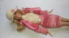 Roupa de crochê para boneca Barbie, doll silkstone, doll monster high, ...
