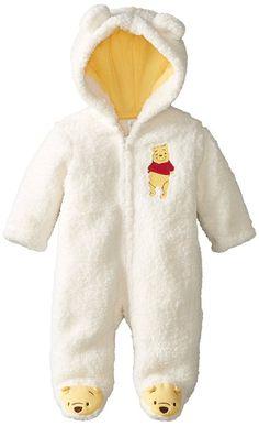 Disney Baby Unisex-Baby Newborn Pooh Hooded Pram, Tusk, 6 Months